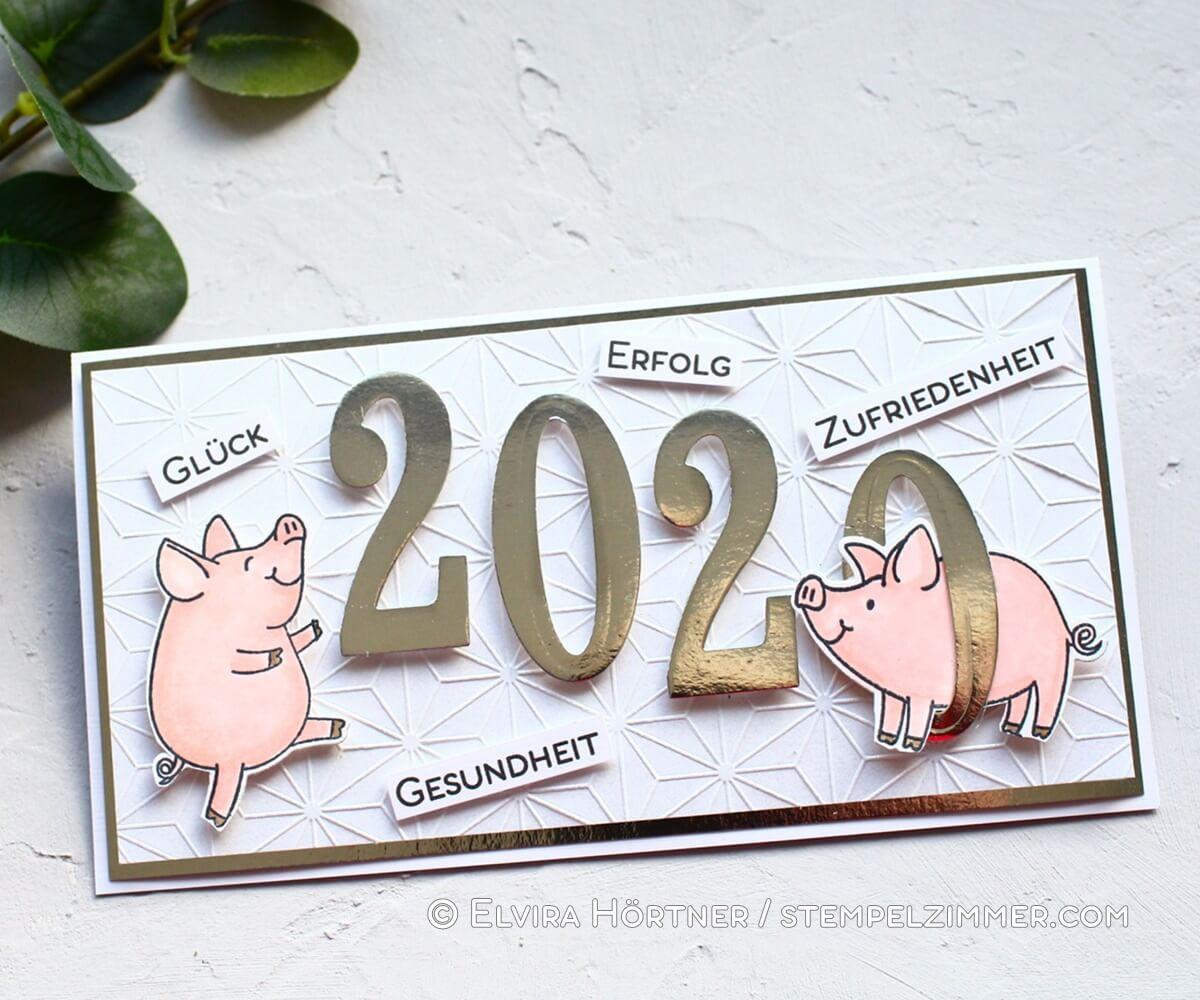 Viel Glück mit den Glücksschweinchen von Stampin Up