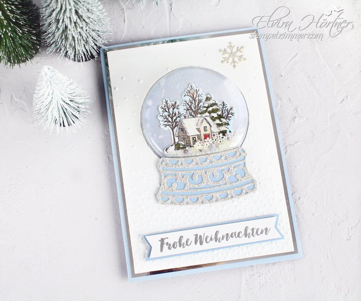 Schneekugel-Weisse Weihnachten-Schneeflocken-Stampin Up-Still Scenes