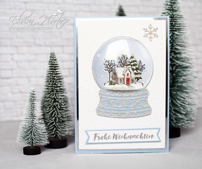 Schneekugelkarte-weisse weihnachten-Still Scenes-Stampin Up