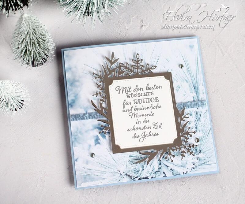 Weihnachtskarte-Stanzformen Winterrahmen-Winterzauber-Stampin Up