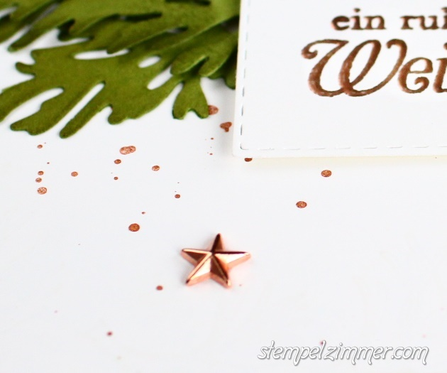Zauberhafte Zweige - Kupferfarbene Sterne - Stampin Up