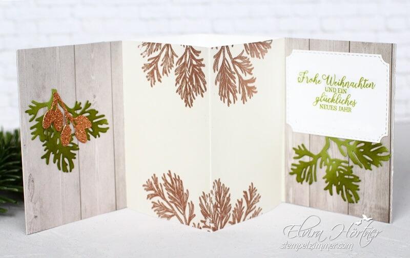 Teelichtkarte mit Zauberhaften Zweigen-Stampin' Up!