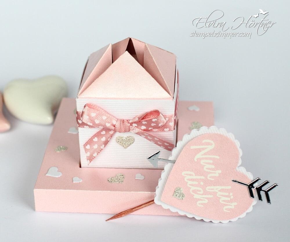 Box mit Diagonalverschluss-Blog Hop-Cutting Machine Design Team-Valentinstag