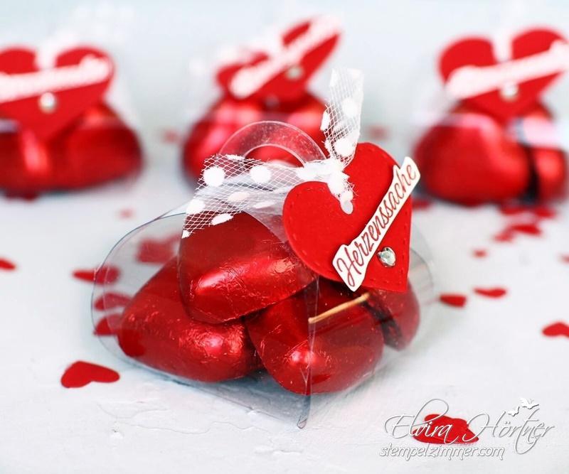 Herzenssache - Last Minute Geschenk zum Valentinstag-Mini-Zierschachtel-Stampin Up