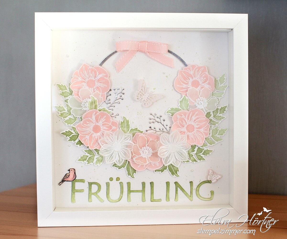 Homedeko-Ribba Bilderrahmen zum Thema Frühling mit Produkten von Stampin' Up!