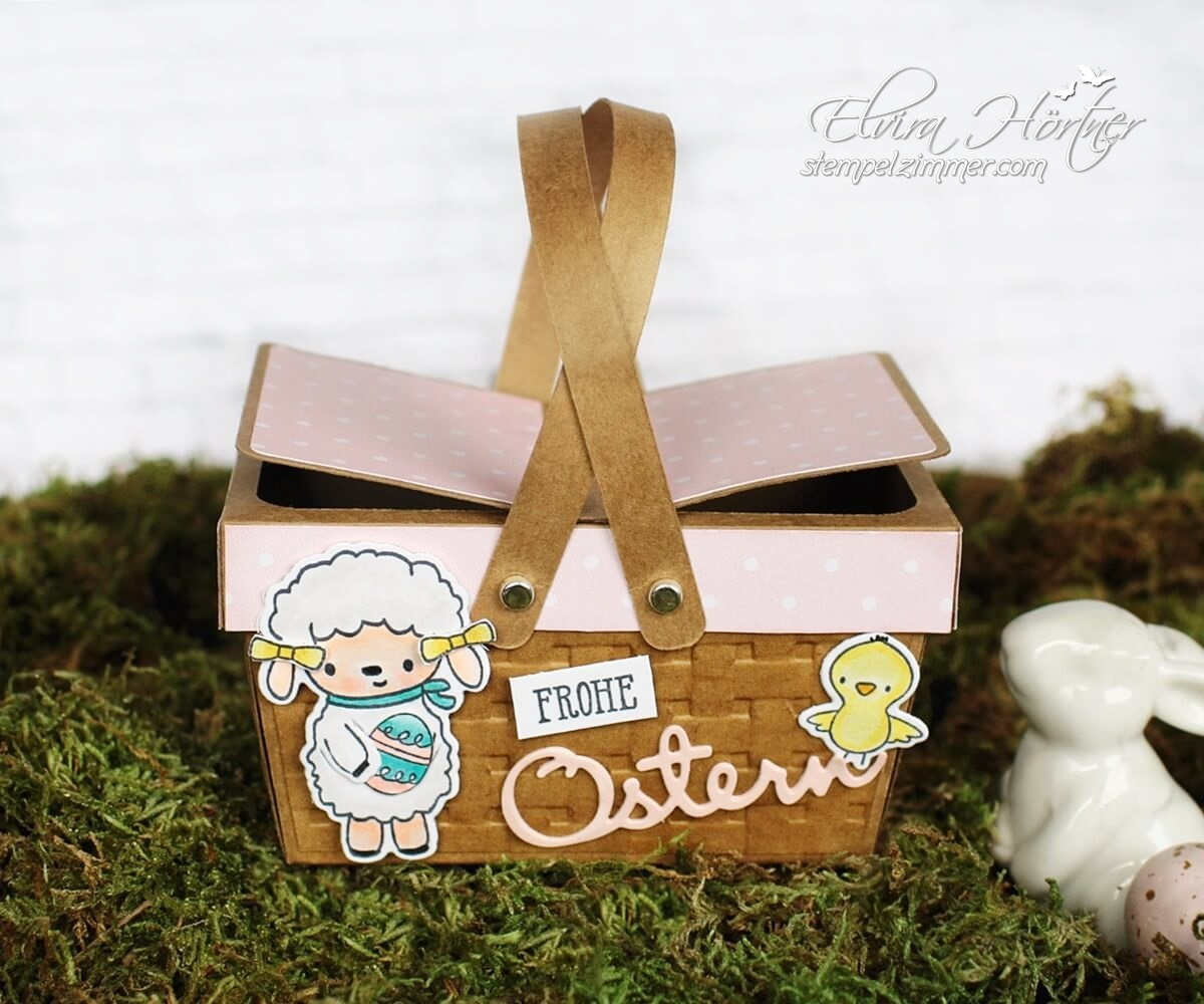 Ostern-Blog Hop Cutting Machine Design Team - Picknickkorb im Osterdesign