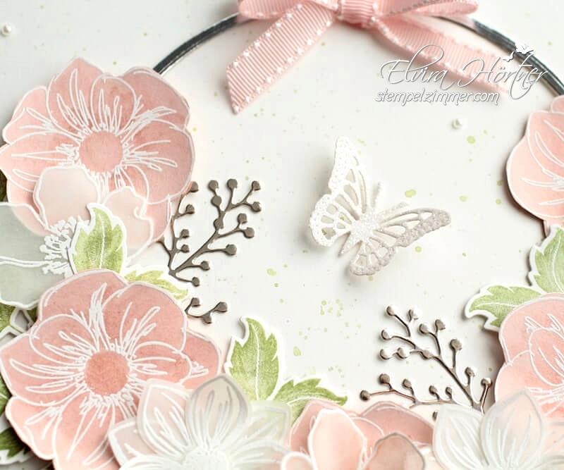 Homedeko-Ribba Bilderrahmen zum Thema Frühling mit Produkten von Stampin' Up!-Florale Freude-Fabolous Florets-Everything is rosy