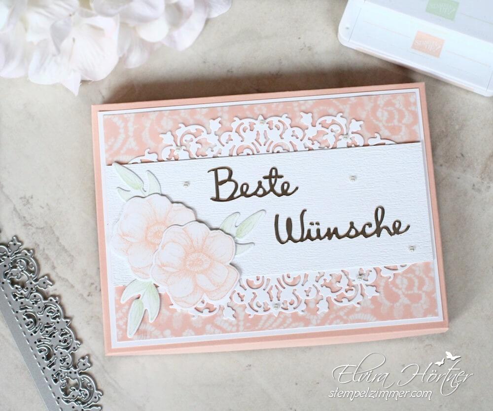 Geschenkbox mit Feiner Spitze und Blumen aus dem SAB Set Painted Seasons von Stampin' Up!