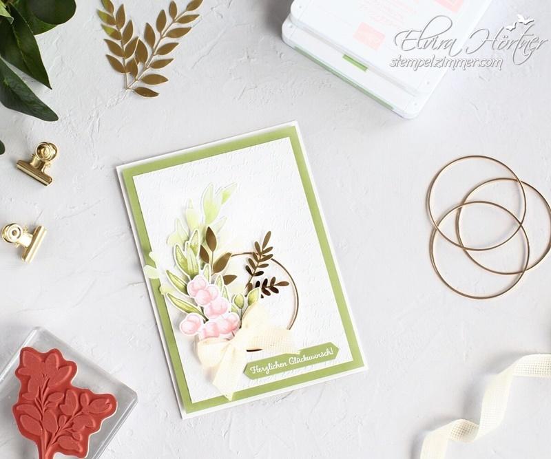 Ewiges Gruen-Produktpaket von Stampin Up -Geburtstagskarte-neuer Katalog