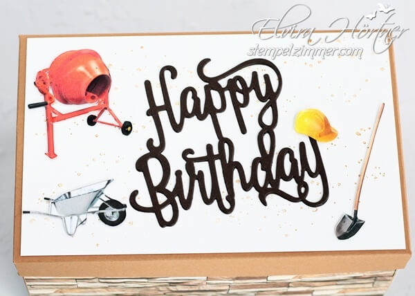 Happy Birthday-Explosionsbox-Hausbau-Umbau-Baustelle