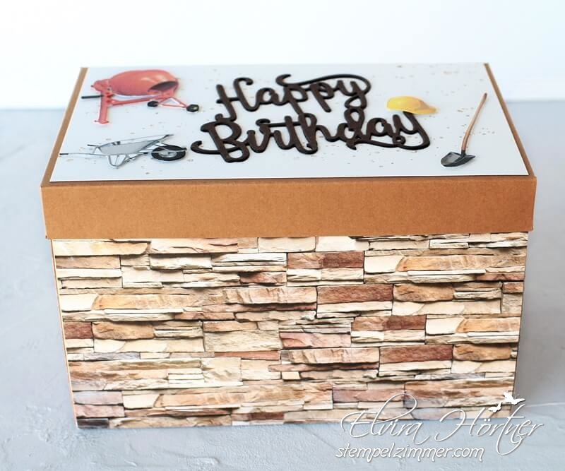 Explosionsbox zum Geburtstag-Hausbau-Umbau-Baustelle