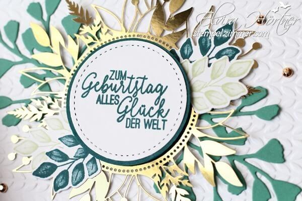 Zum Geburtstag-Geburtstagskarte mit den Produkten Ewige Zweige und Für alle Zeit von Stampin Up