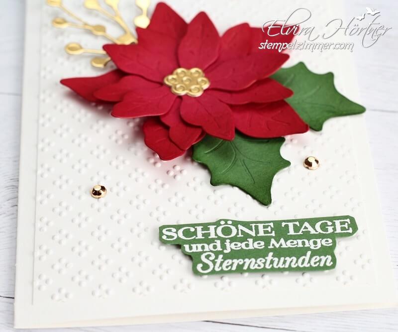 Bluehende Weihnachten-Weihnachtskarte mit Produkten von Stampin Up!