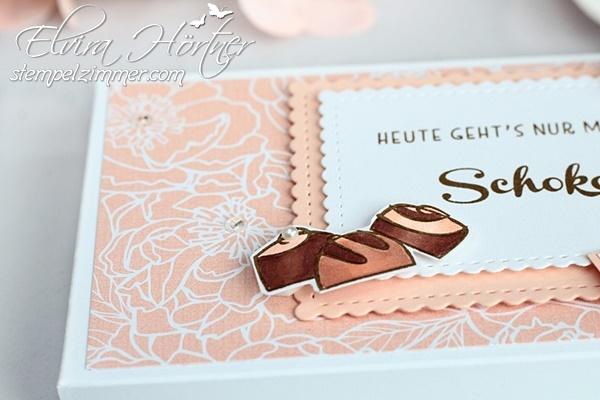 Schokolade und Pralinen-Schogettenverpackung mit Produkten von Stampin' Up!