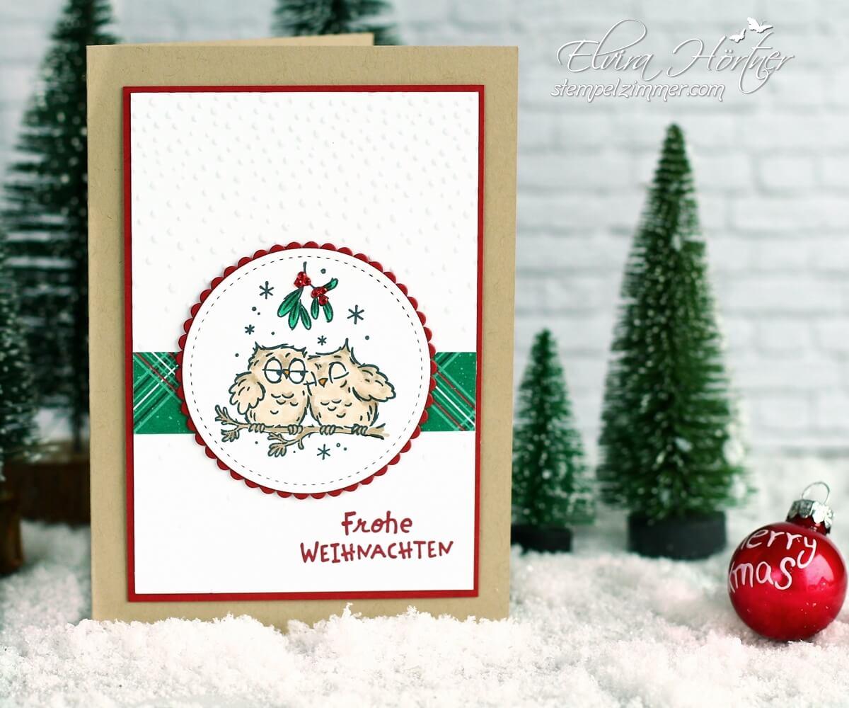 Weihnachtseulen mit dem Stempelset Eulenfest von Stampin Up