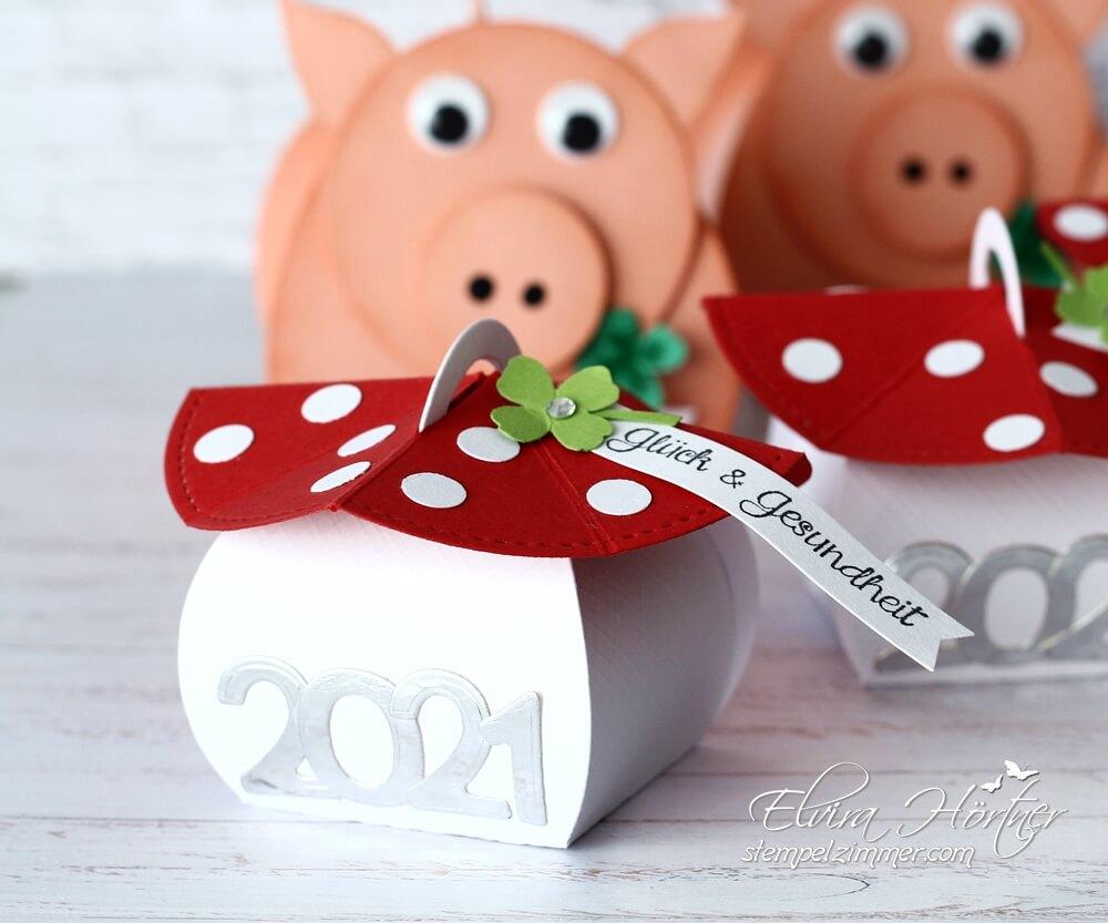 Glueckspilz zum Jahreswechsel mit der Mini Zierschachtel von Stampin' Up!