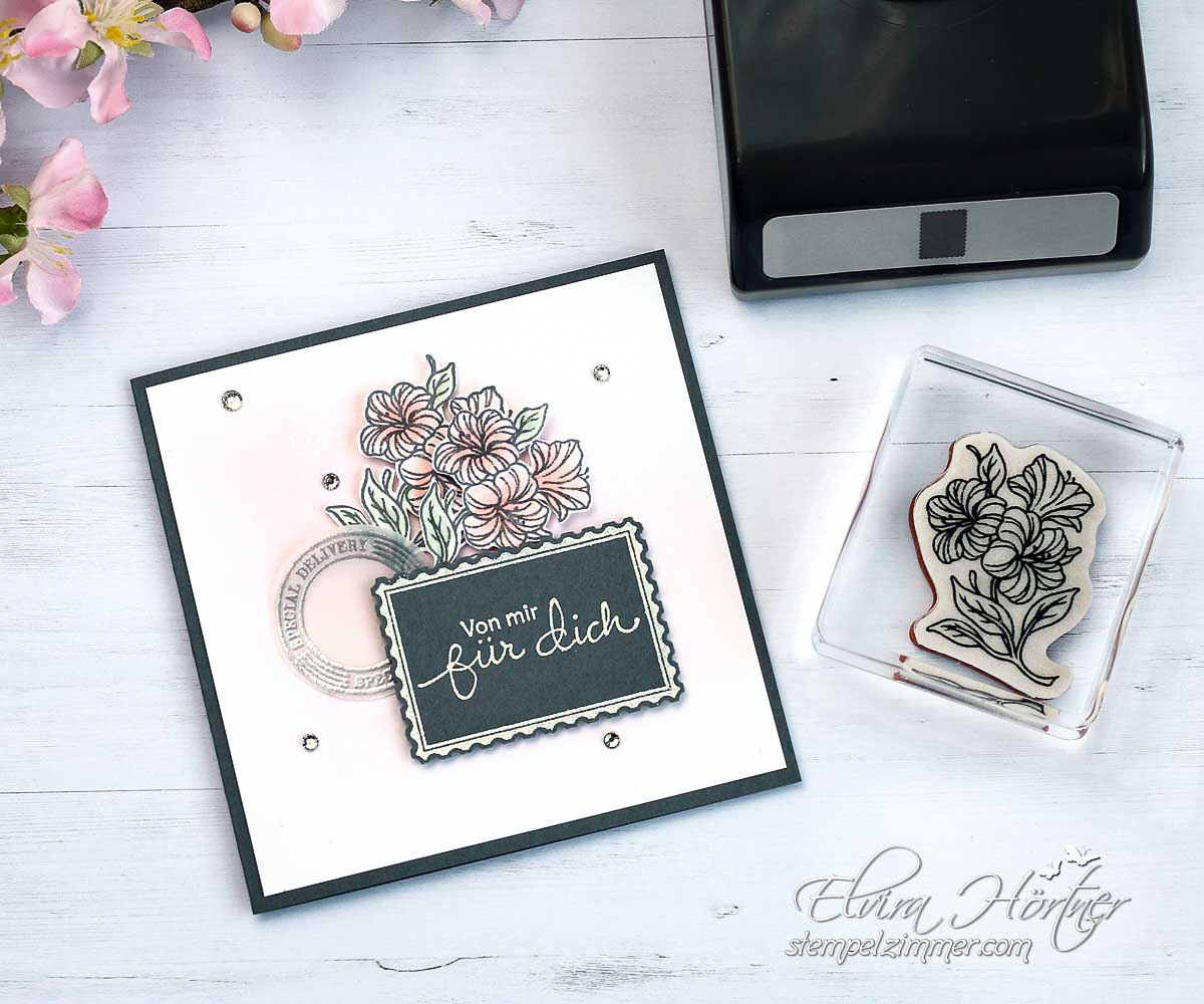 Kleine Karte mit dem Stempelset Posted for you von Stampin' Up!