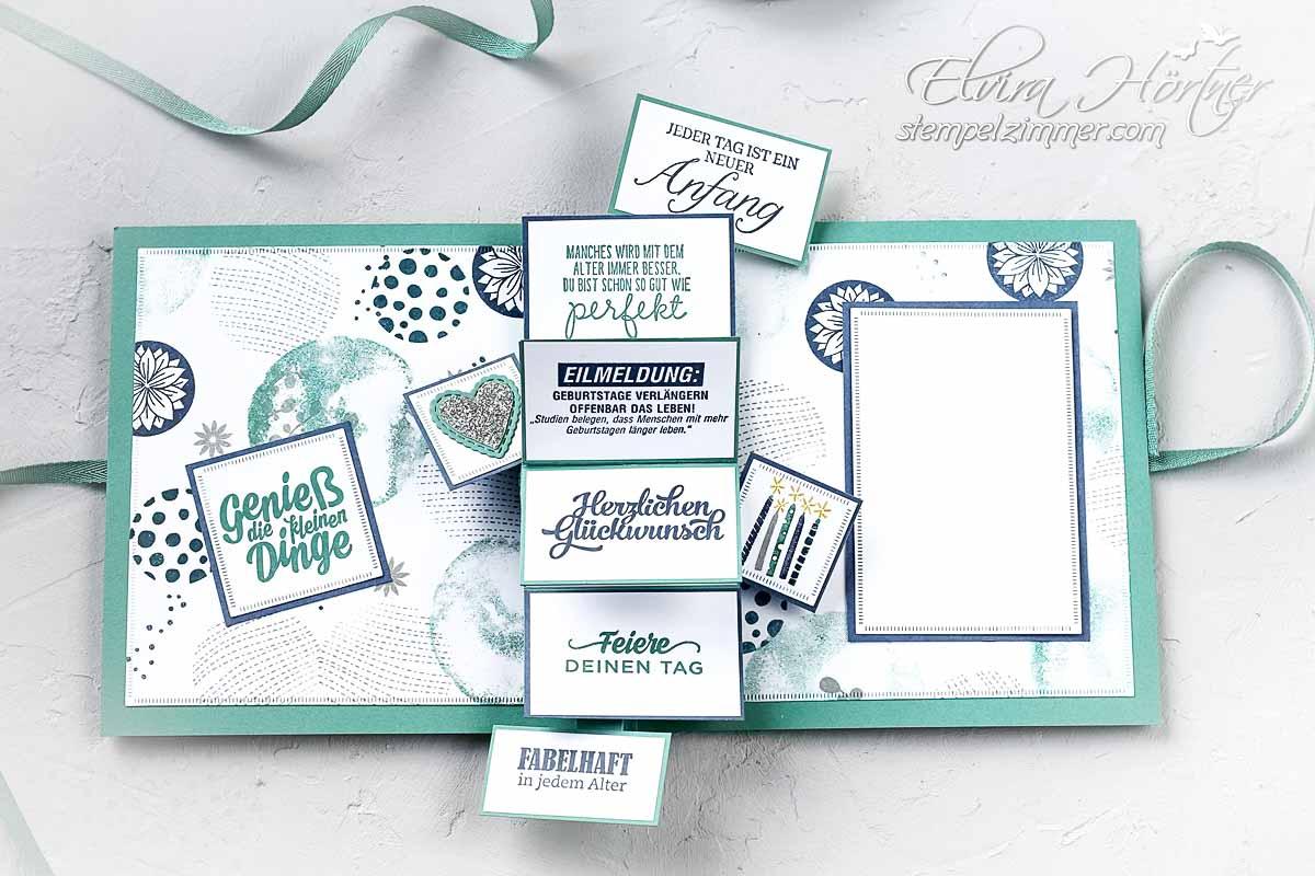 Besondere Karte - Geburtstagskarte mit Produkten von Stampin' Up!