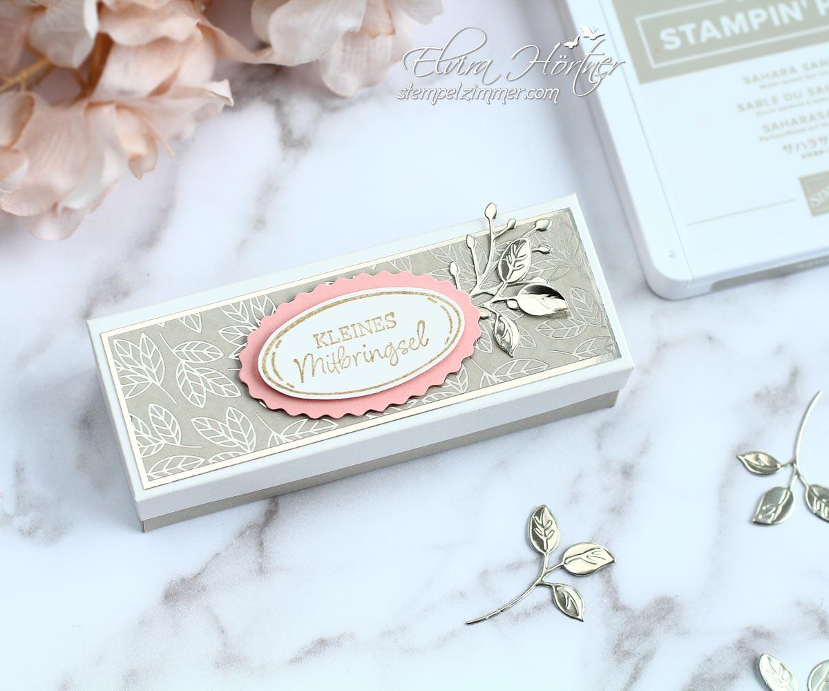 Kleines Mitbringsel - Verpackung für Handcreme mit Produkten von Stampin' Up!