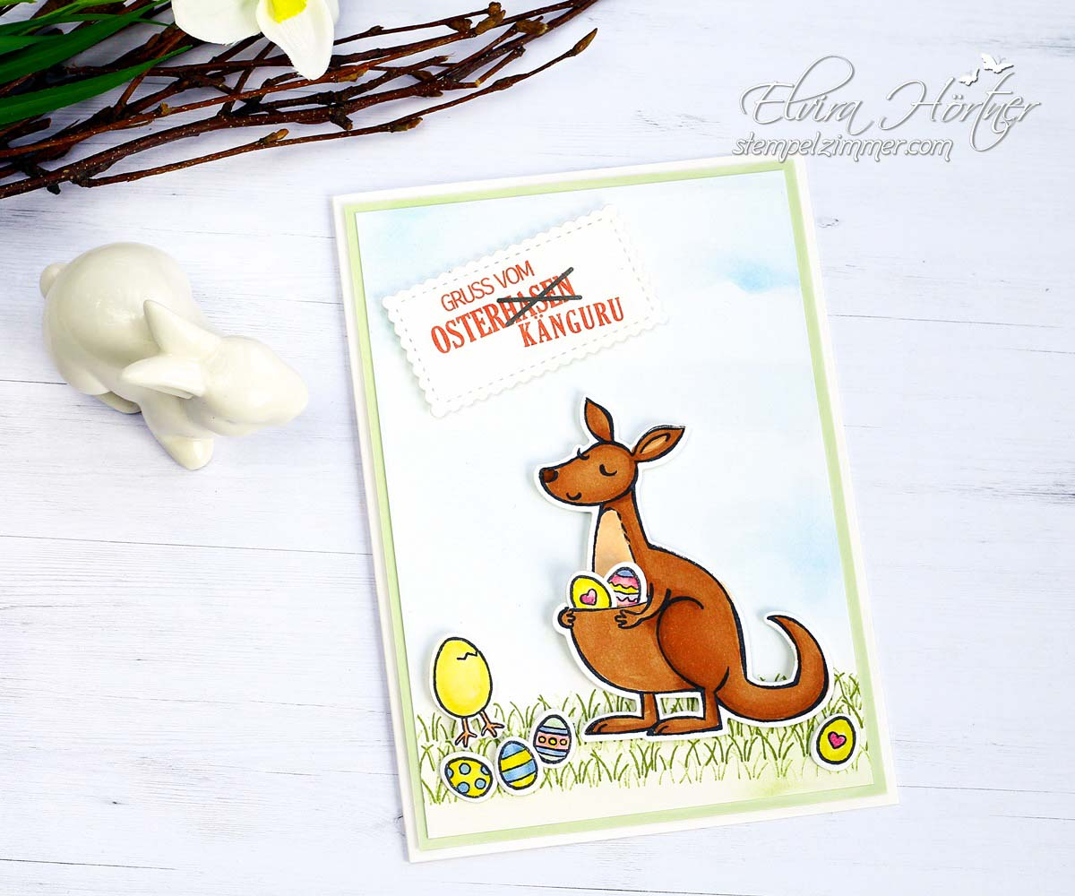 Kangaroo and Friedns - die andere Osterkarte mit Stampin Up