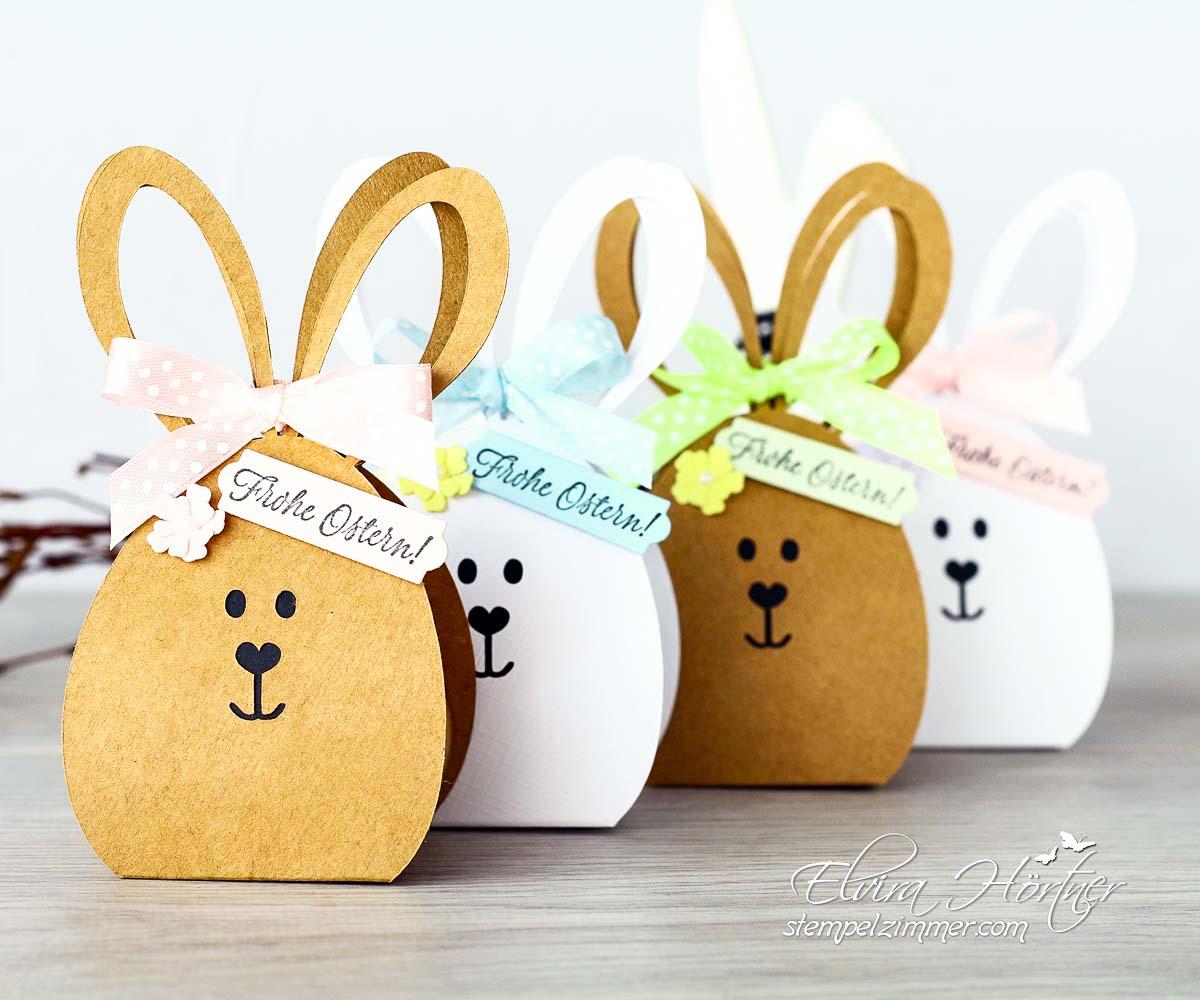 Hasenparade - Osterhasenboxen mit Schokolade-Plotterdatei