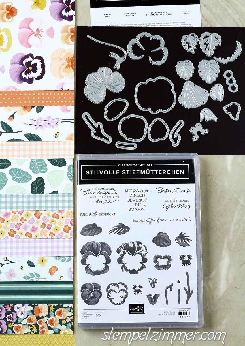 Produktpaket Stilvolle Stiefmuetterchen Nr 155673 von Stampin' Up!