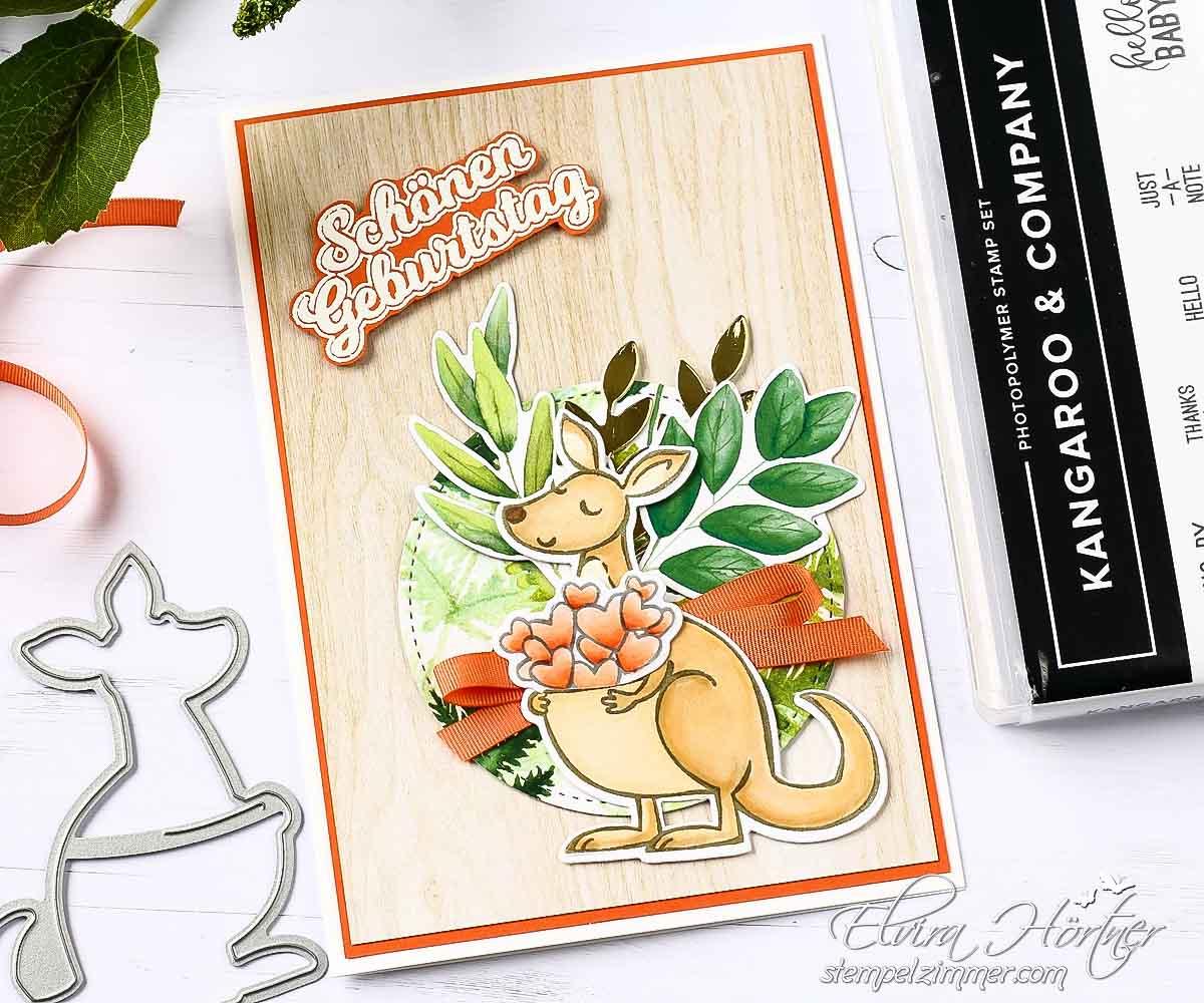 No Kangaroos in Austria - Geburtstagskarte mit Kaenguru - Stampin Up