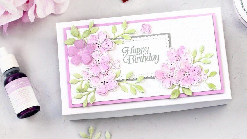 Blumige Geburtstagsbox