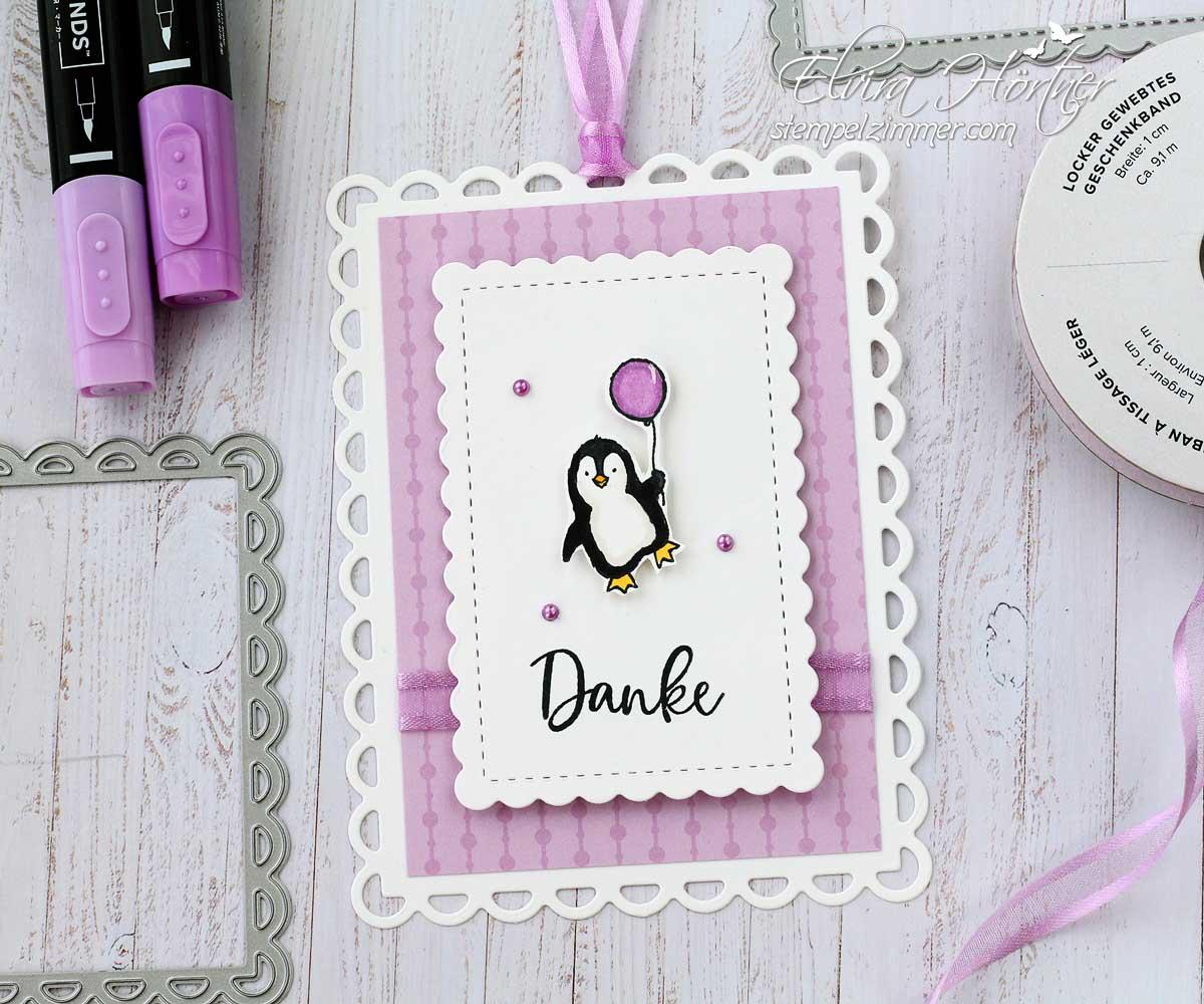 Pinguin mit Luftballon aus dem Stempelset Count on Me von Stampin' Up!